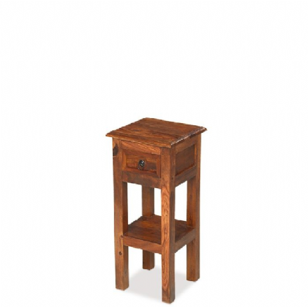 Jali Sheesham Wood Lamp Telephone Table